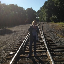 In the tracks (photo by L.E. Swenson)