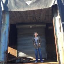 In abandoned railcar (L.E. Swenson)
