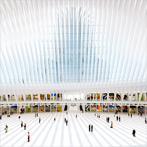 interior of WTC transit hub