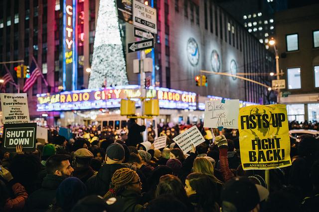 Radio City protest