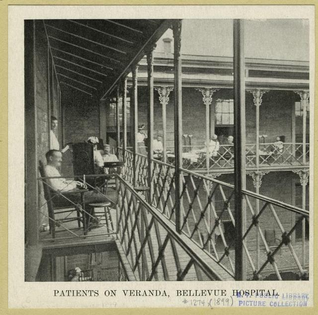 Bellevue-Hospital-NYC-1906-Vintage-Photograph-Balcony-Veranda